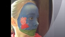 Peppa Pig Face Paint _ Make-up Tutorial Design - Easy Guide - Children's Face Painting Tutorial