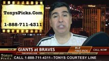 Atlanta Hawks vs. San Francisco Giants Pick Prediction MLB Odds Preview Weekend Series May 2014