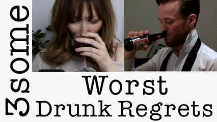 3some asks What's Your Worst Drunken Regret? #fancya3some