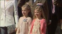 Las infantas Leonor y Sofía participan por primera vez en un acto oficial a nivel nacional