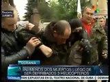 Mueren dos militares por derribo de helicópteros en Slaviansk