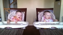 A very little cute twin babies Dancing on Music Funny
