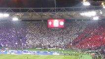 [03-05-2014 FIORENTINA-NAPOLI 1:3] Coreografia Curva Sud tifosi Fiorentina finale TIM Cup LIVE dalla curva ospiti