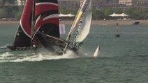 MASSIVE BOAT CRASH - Extreme Sailing Series