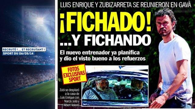 Luis Enrique prépare déjà le mercato du Barça, Tottenham a trouvé son futur coach