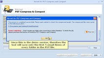 Compress & Compact MS Outlook PST files  - Kernel for PST Compress and Compact