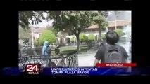 Ayacucho: universitarios intentaron tomar la Plaza Mayor