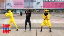 Dj King Serenity - CLAP and FEET A LA DEFENSE Yellow Man Ananas et Pikachou - CHOREGRAPHIE - EveryBody Yes We Can