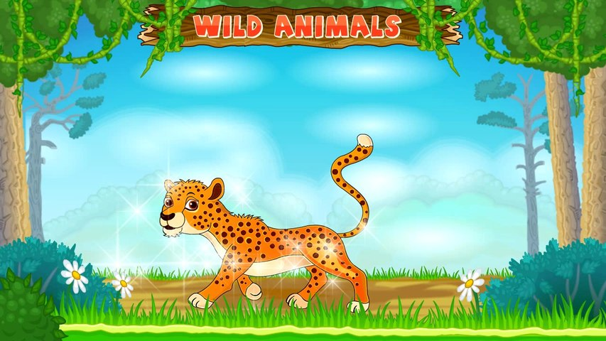 Types of Wild Animals | Animated Video For Kids | English