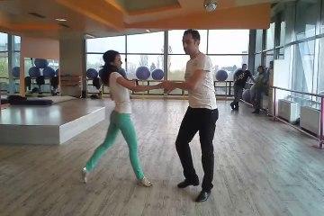 Dina & Ovidiu demo dance at 1st International West Coast Swing workshop in Bulgaria