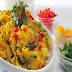 Cornmeal Upma    Namaste Breakfast