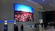 Ecran géant LED indoor curve de 30m² pitch 6 C.C Atlantis (Nantes)