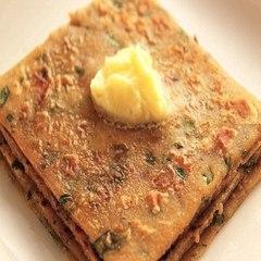 Tofu Palak Parantha     Namaste Breakfast