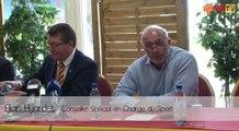 Conférence de Presse du Président Rivière pour le projet de la saison prochaine et Présentation d'Alain Hyardet