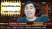 NBA Playoff Pick Game 2 Oklahoma City Thunder vs. LA Clippers Odds Prediction Preview 5-7-2014