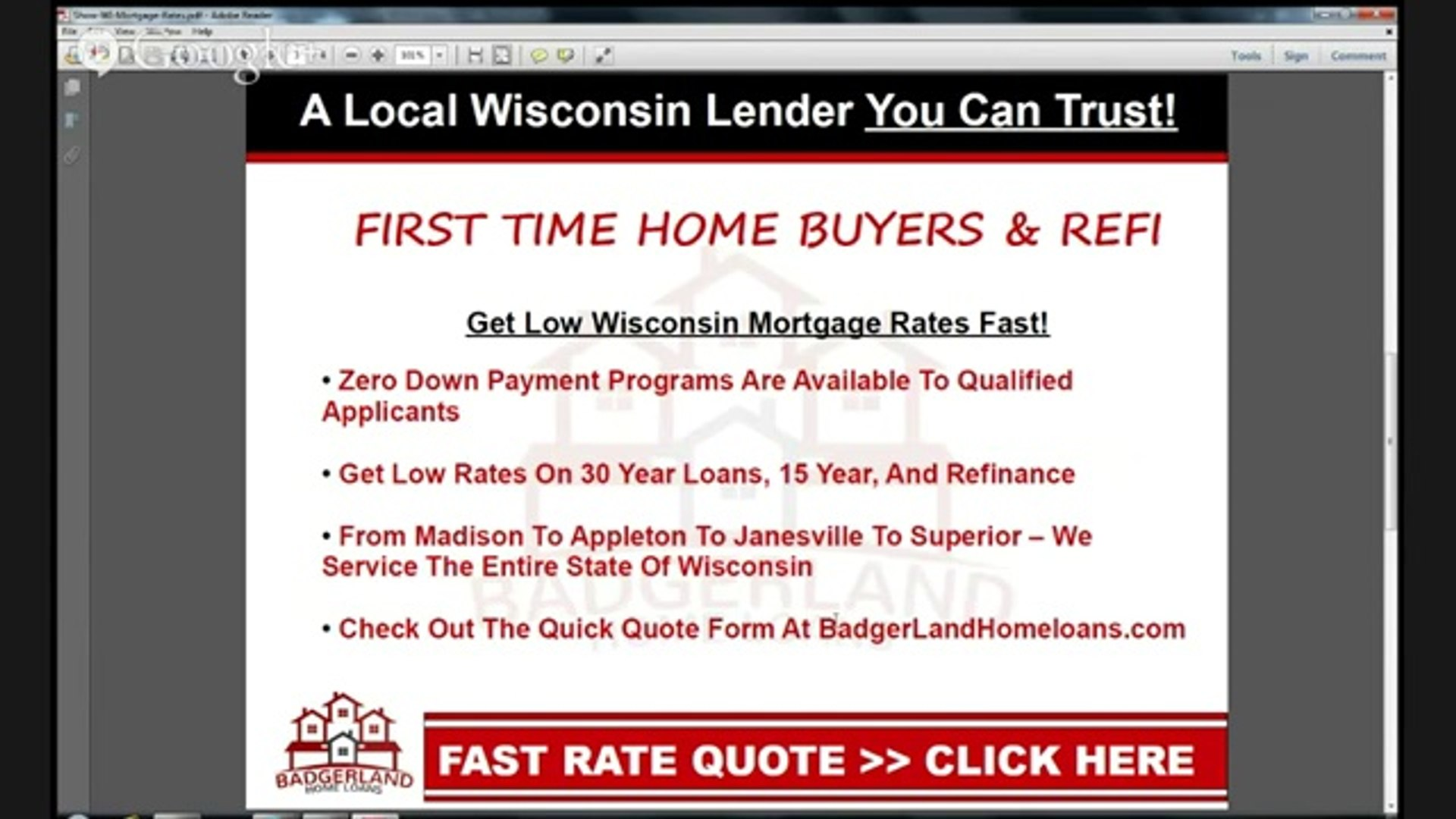 Find Low Rates With The Wisconsin Mortgage Calculator