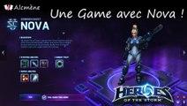 [Alc114] Découverte Heroes - Une Game avec Nova ! (Heroes of the Storm Alpha - FR)