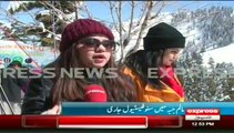 swat snow festival  in malam jabba and turist