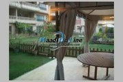 Ground floor for rent in Sarayat ELmaadi with privet garden sharing pool and GYM and privet terrace