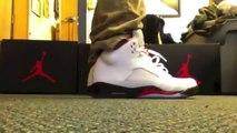 official photos ab170 35b88 Air Jordan Retro 5 Fire Red 2013 + on feet,Air Jordan V ...