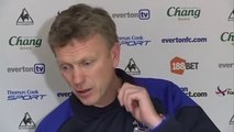 David Moyes Comments on Win Everton 1 - 0 Man City EPL 2012