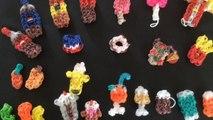 Food rainbow loom - mes créations - fruit- glaces- sodas ...
