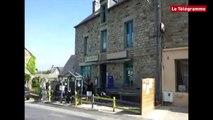 Saint-Gouéno (22). La cheminée s'effondre sur un barnum : deux blessés