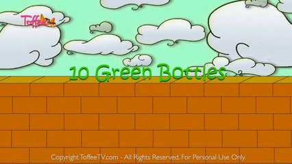 Ten Green Bottles - English