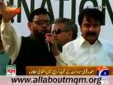 Abdul Haseeb speech at MQM stage a protest demonstration against Amnesty International Report at Karachi Press Club