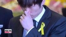 Football Park Ji-sung arrives in Korea; visits Sewol victims' memorial
