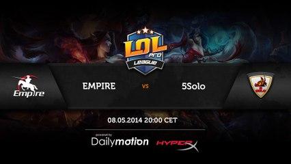 Empire vs 5solo - game 1 (RUS)
