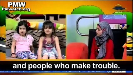 Palestinian TV encouraging young children to kill Jews when grownup