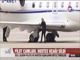 Uçağın pilotu camları hostes de uçağı böyle sildi