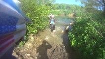 ENDURO 77 KTM FreeRide sous l'eau passage de gué