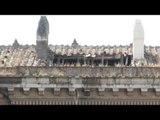 Caserta - Crolla parte del tetto della Reggia (09.05.14)
