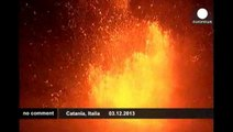 Italy Mount Etna erupts again, showering towns with volcanic ash