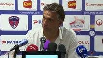Conférence de presse Clermont Foot - ESTAC Troyes (0-3) : Régis BROUARD (CF63) - Jean-Marc FURLAN (ESTAC) - 2013/2014