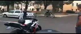 Roue arrière en 450YZ à la cité Louis Gros (Avignon)