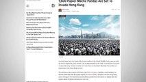 1,600 Papier-Mâché Pandas Will Be Set Up in Hong Kong
