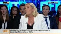 BFM Politique: L'interview BFM Business, Marine Le Pen répond aux questions d'Hedwige Chevrillon - 11/05 2/6