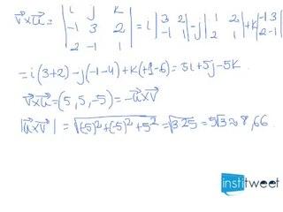 Producto vectorial con condiciones y módulo