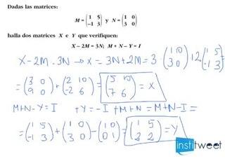 Ejemplo resuelto de operaciones con matrices