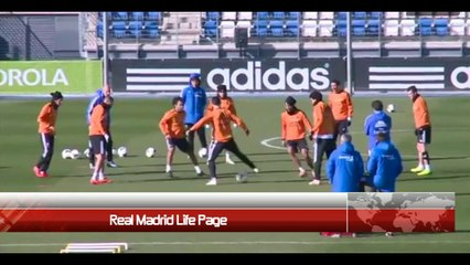 iker casillas and Cristiano ronaldo Show in allenamento _