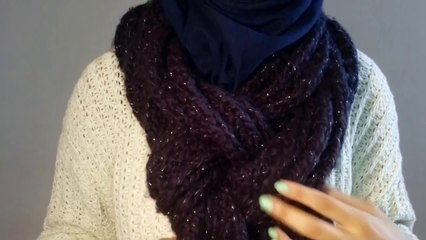6 ways to tie a winter scarf with your Hijab