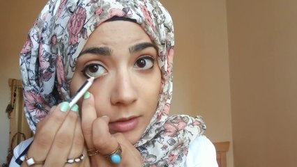 simple everyday makeup + easiest way to do Eyeliner ميكياج ي