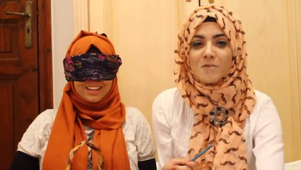 BLINDFOLD MAKEUP CHALLENGE _ (With Aycha)
