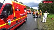 Pays de Carhaix. Un camion de lait se renverse : le chauffeur grièvement blessé