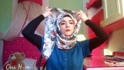 Hijab tutorial for Glasses لف الحجاب مع النظارات