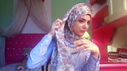 Everyday Hijab tutorial #2 (maxi scarf)