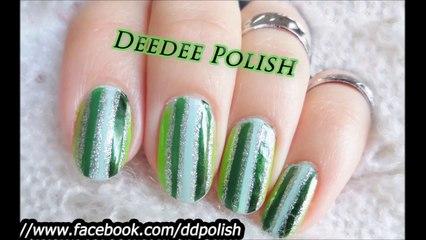 مناكير تدرجات اللون الاخضر Green Gradient Nailart